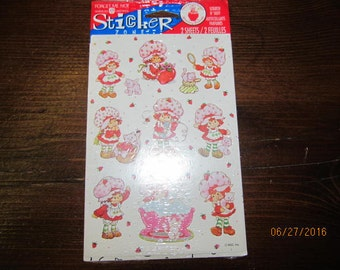 5 Packs Vintage Mint New in Package Strawberry Shortcake Stickers Forget Me Not Stickety Doo Da DesignWare