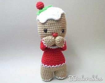 Gingerbread doll - crochet pattern, PDF PATTERN