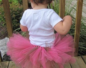 Baby Tutu Ava Hot Pink and Brown Tutu