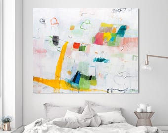 Large Abstract Painting Colorful painting Contemporary Art Extra Large Wall Art Modern Painting by Duealberi