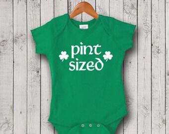 St. Patrick's Day Bodysuit, Pint Sized One Piece, Romper, T-Shirt, St. Patrick's Day Bodysuit, St. Patty's