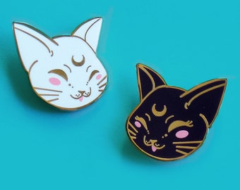 Artemis and Luna Enamel Pin Set