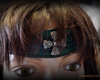 "Vegetable tanned leather ""Brocéliande"" Tiara"