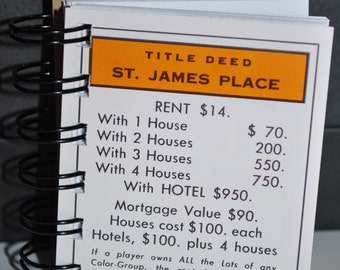 St James Place Monopoly Notebook