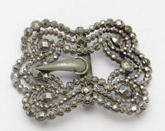 Victorian Cut Steel Buckle Antique Accessories