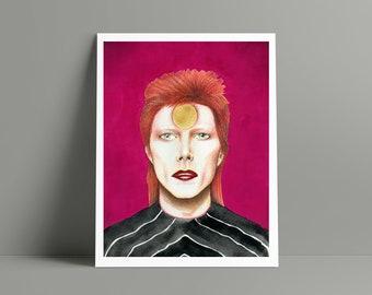 David Bowie Fan Art Giclee Print - David Bowie Portrait