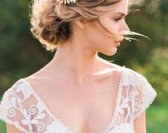 Bridal Leaf Crown Gold Leaf Headband Gold Bridal Wreath Silver Leaf Crown Gold Leaf Hair Bridal Crown Silver Leaf Headband  #145