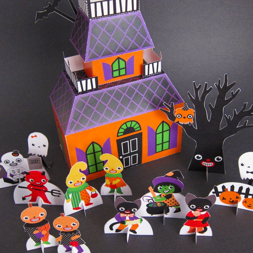 Haunted house playset printable paper craft pdf halloween haunted house playset printable paper craft pdf jeuxipadfo Image collections