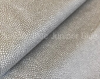 ORGANIC Grey Dots- Paint the Town Collection, Windham Fabrics, Certified Organic Cotton Fabric, Quilting Weight