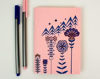 A6 Plain Notebook - The Flower Collector