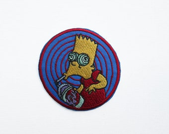 Bart Simpson Squishee Patch, Simpsons, The Simpsons, iron on, TV, Series, Fan, Fandom, Cartoon, Sugar Rush, Bart, Kids