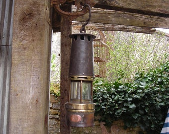 French Miners' Lamp. Vintage Miners' Lamp.  Old French Miners' Lamp.