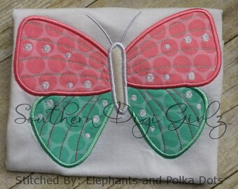 Butterfly 1 Applique Embroidery Design (INSTANT DOWNLOAD)