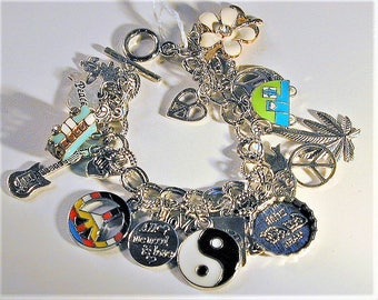 Hippie Inspired Charm Bracelet #2 OOAK