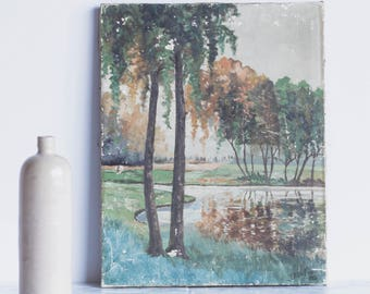 Riverside Oil Painting