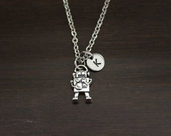 Robot Necklace - Robot Jewelry - Robot Lover Gift - Technology Lover Necklace - Science Fiction Necklace - Futuristic Necklace - I/B/H