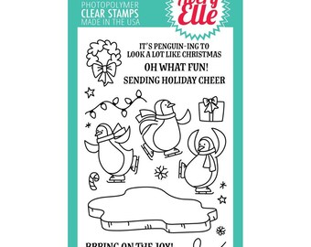 Avery Elle STamp Set  Bring On the Joy Christmas, Penguins