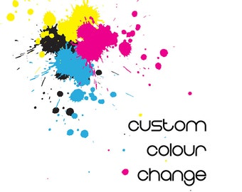 Custom Colour Change on any Invite or Design - ADD ON