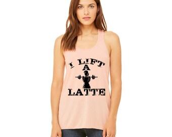 I Lift a Latte Women's Flowy Racerback Tank