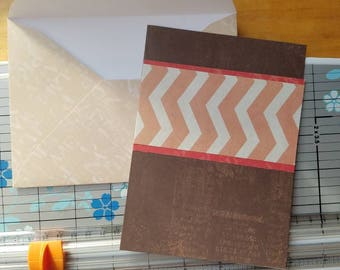 On Sale! Pink and brown blank greeting card