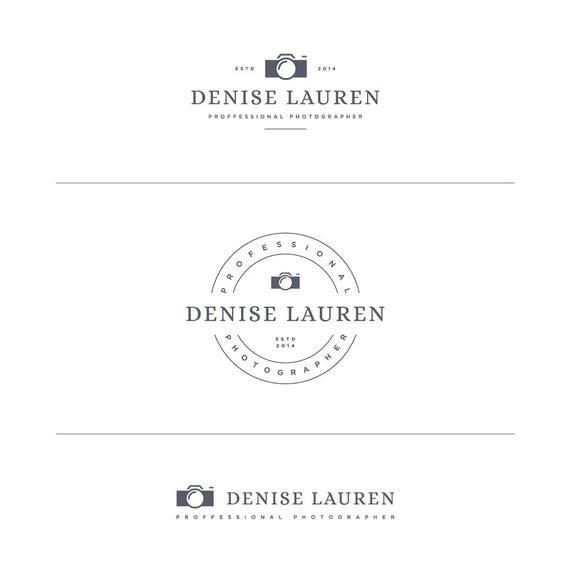 Banding Kit, Branding Set, Camera Logo, Gold Blog Logo, Photographers Logo, Photo Logo, Camera Watermark, Round Logo, Premade Camera Logo