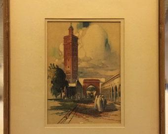 "on sale art antique and vintage Casablanca A.F. Mettel's ""The Medina, Casablanca"" talio-crome process..."