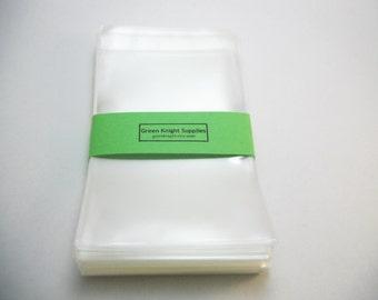 100Pcs-Clear Resealable Cellophane Bags 8cm Wide x 12cm Long CB005