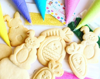 Cookie Decorating kits/easter cookies/cookies/decorating cookies sets /diy/cookies/sugar cookies/diy kit/Easter/easter basket