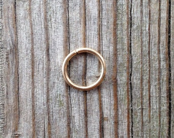 18 gauge nose ring,14K gold filled Nose Ring, 18 gauge gold nose hoop, gold nose ring, 14k gold nose ring, simple tiny,body jewelry.