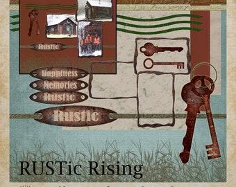 RUSTic Rising Digital Scrapbooking Kit Mini