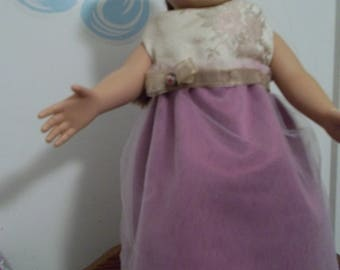 "18"" doll Dusty Rose Gown 343E"
