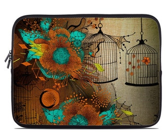 Laptop Sleeve Bag Case - Rusty Lace by Iveta Abolina - Neoprene Padded - Fits MacBooks + More