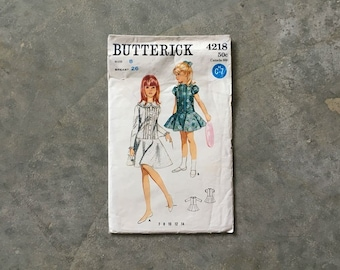 girls size 8 butterick vintage patterns | circle skirt dress pattern | vintage girls dress pattern | butterick 4218