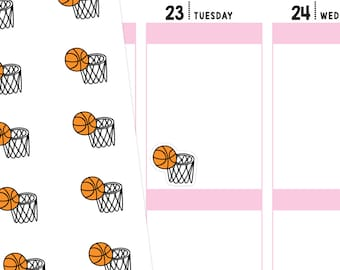 Basketball Planner Stickers, Sport Stickers