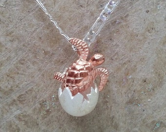 Sea turtle jewelry etsy quick view sterling silver gold plated hatching baby sea turtle necklace aloadofball Gallery