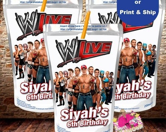 WWE Capri Sun, juice pouch, juice box, WWE party favor, WWE birthday party-digital file only