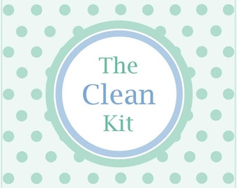 The CLEAN KIT, cleaning printables, cleaning planner, housekeeping printable, cleaning schedule, instant download, PDF, Full Size