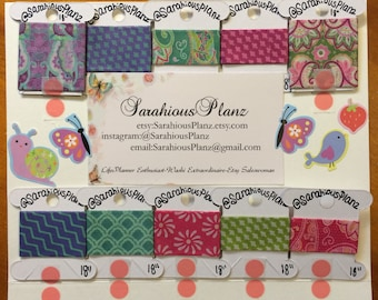 Washi Tape Samples- new value