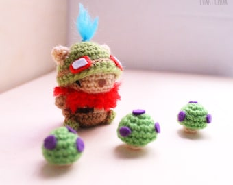Chibi Teemo cute amigurumi doll character from league of legends - LoL