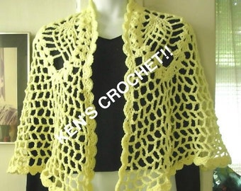 Pineapple Mesh Shawl-Digital Download PDF Pattern Only