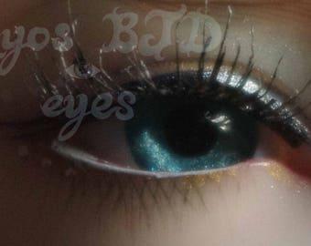14mm full round sea green acrylic eyes