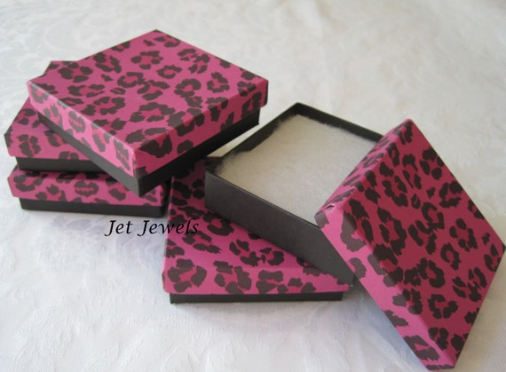 10 Gift Boxes Jewelry Gift Boxes Hot Pink Gift Boxes Animal Print