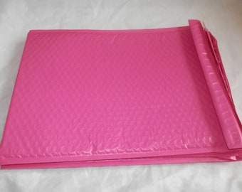 30 Hot Pink 10.5 x 15.5 Bubble Mailers, Size-5 Padded Self Adhesive Padded Mailer Envelopes Wholesale