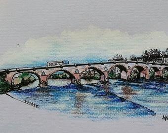 Bridge over river Tay, Perth, scotland