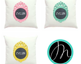 Chalkboard Pillow Cover, Personalized Pillows, New Baby Gift, Toss Pillow Cover, Mix & Match, Name Pillow Case, Nursery Decor, Baby's Room
