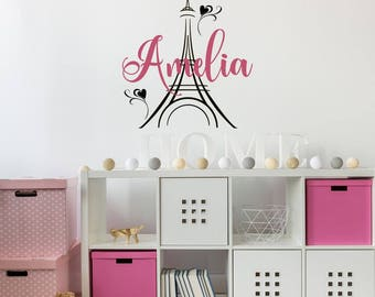 paris wall decals etsy. Black Bedroom Furniture Sets. Home Design Ideas