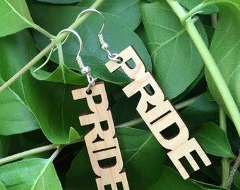 PRIDE laser cut earrings