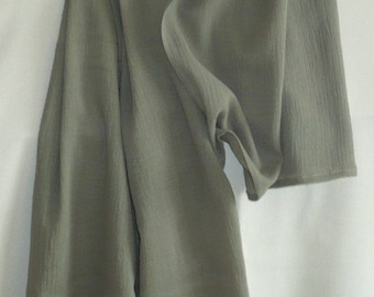 Cotton khaki light crepe scarf