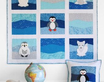 Polar Babies Quilt and Pillow PDF pattern
