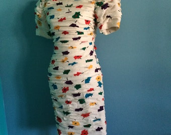 Vintage Couture Scaasi Boutique Dress by Arnold Scaasi